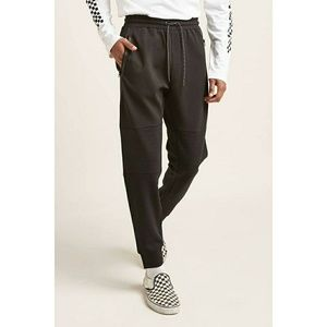 New Forever21 Zippered Moto Joggers Pants Black XL